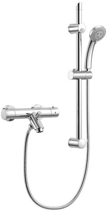 THERMOSTATIC MIXER KIT WITH BATH FILLER